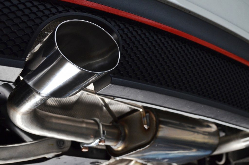 exhaust system of a car