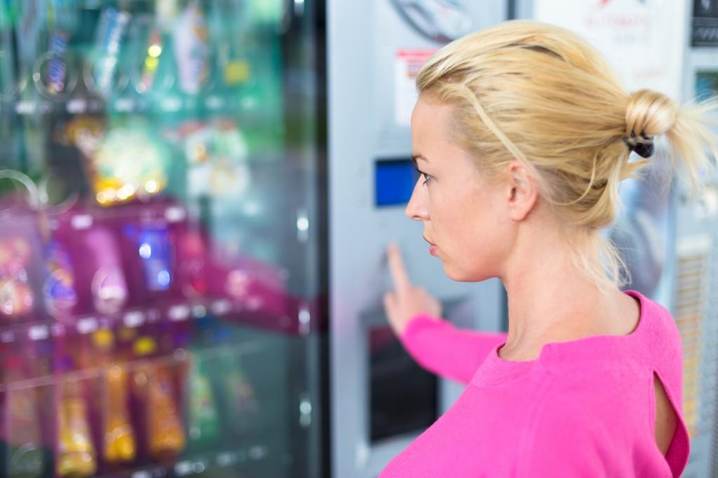 using a modern vending machine