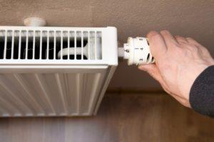 Hand on heater