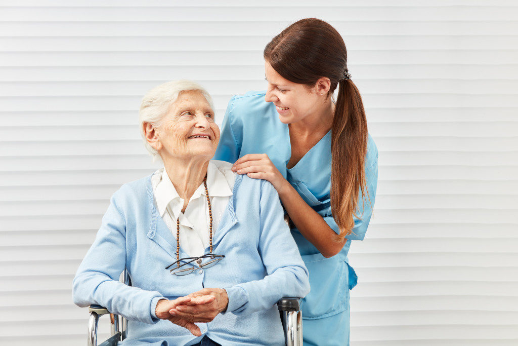 caregiver and senior