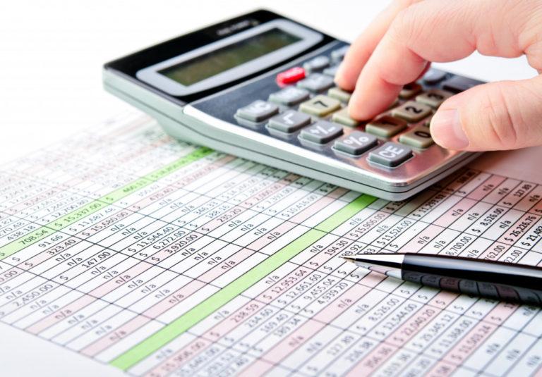 bills beside calculator