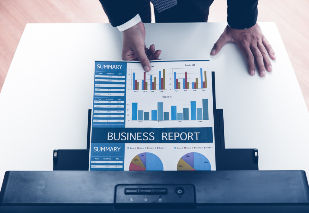 business report printing