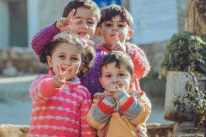children smiling